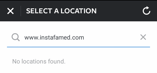 No custom locations on Instagram