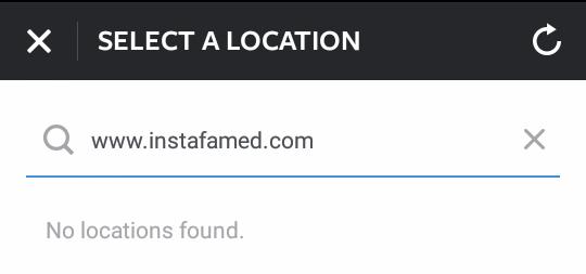 No custom locations on Instagram