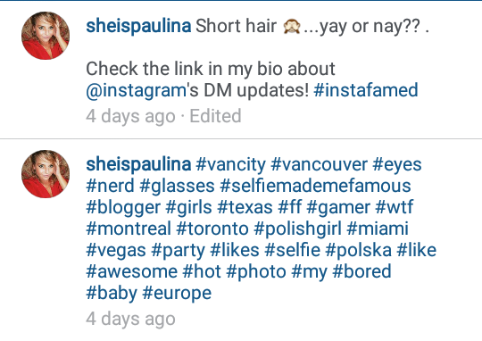 How does Instagram pictures on the Top Posts?