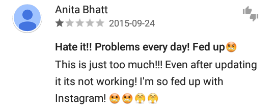 Instagram update problems #instagramdown