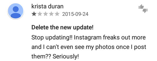 Is your Instagram down after latest update? #instagramdown