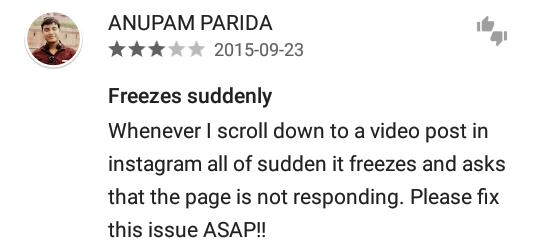 Reviews of the latest Instagram update