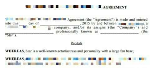 Instagram non- competitive disclosure agreement