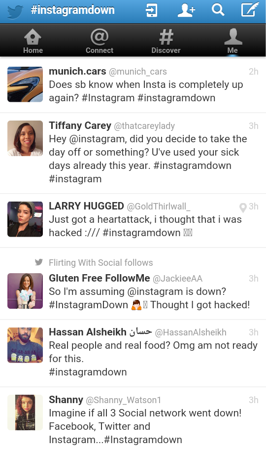 Why is my Instagram down?